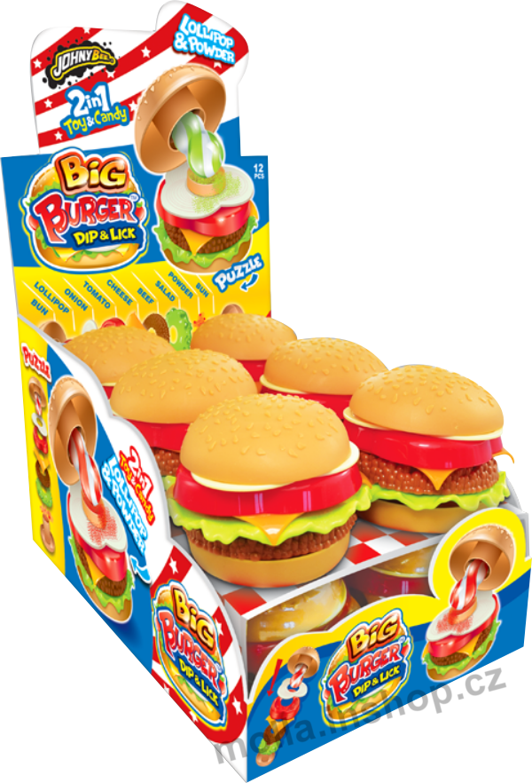 Lízátko Big Burger 21g/12ks Puzzle